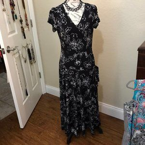 Style & Co. Black and White Maxi Dress